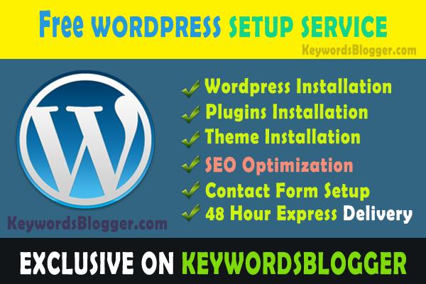 Wordpress Setup Banner